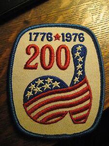 USA-American-Bicentennial-1976-Bowling-Pin-Ball-Red-White-amp-Blue-Jacket-Patch