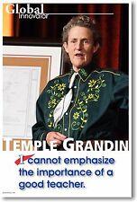 Good Teachers - Temple Grandin - NEW Famous Person Motivational POSTER