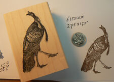 "P13 Turkey rubber stamp1.7x2.5"" very detailed"