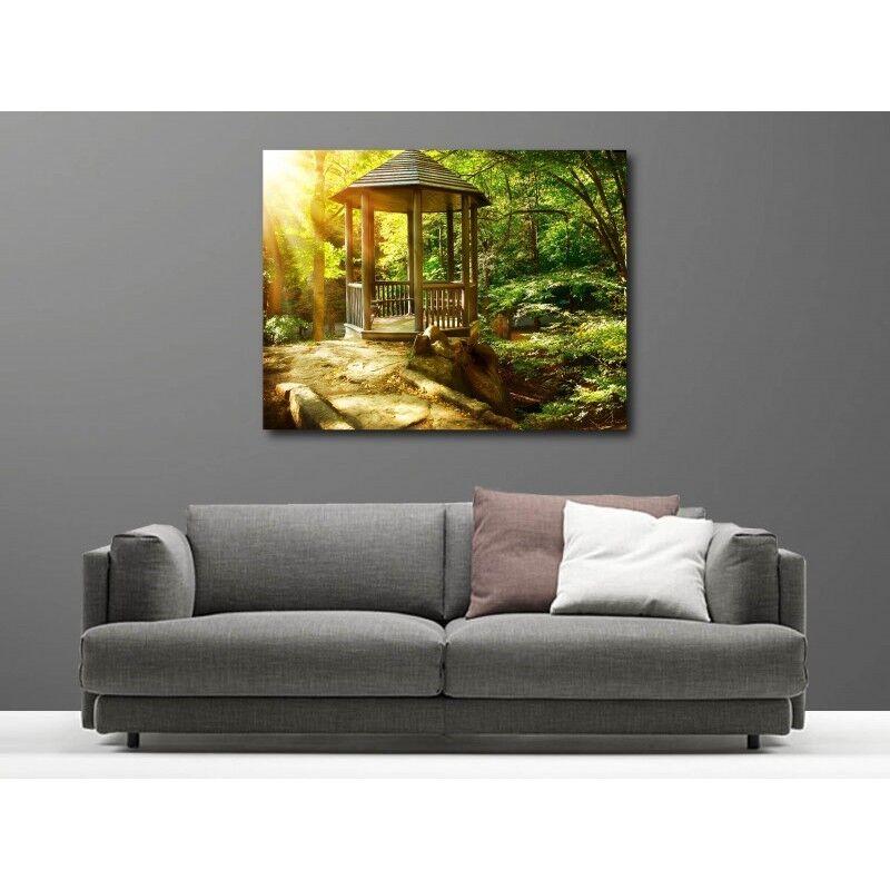 Cuadro tela decoración rectangular bosque 14134309
