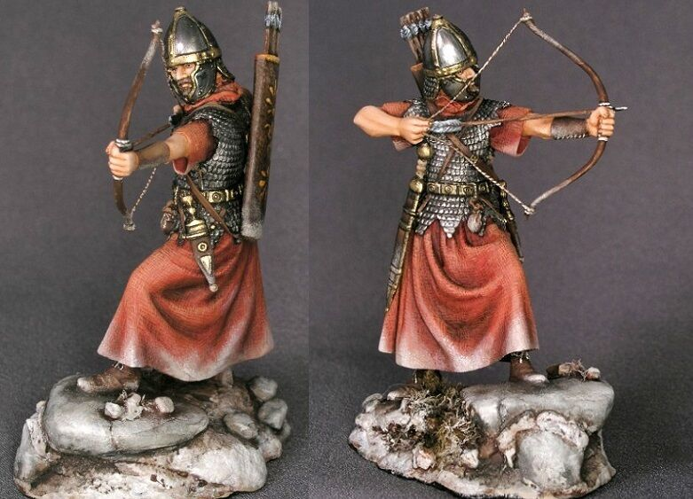 Tin toy soldiers ELITE painted 54 mm   Roman Archer