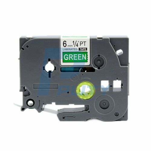 2PK White on Green Label Tape TZ 715 TZe 715 Compatible for Brother P-Touch 6mm