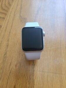 Apple Watch Series 3 38mm Silver Aluminum Case White Sport Band Mtgg2ll A Ebay