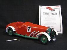 Märklin Mercedes-Benz SSK Rennwagen 1:18 #7 Metal Clockwork Racer (JS)