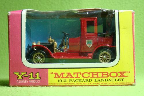 Matchbox Models of Yesteryear Y-11-1912 Packard Landaulet Modellauto OVP
