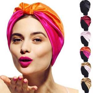Turban-Cap-Headband-Elastic-Silk-Hair-Bonnet-Head-Cover-Hats-Sleep-Satin-Ba-W2W2