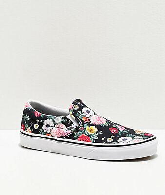 NEW Vans Slip On Garden Floral Skate Shoe Print Womens   eBay