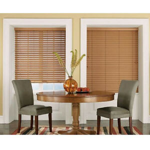 new maple light brown faux wood blinds 2in wide slats ebay. Black Bedroom Furniture Sets. Home Design Ideas
