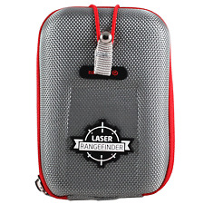 NAVITECH BUSHNELL GOLF LASER RANGEFINDER HARD STORAGE CARRY CASE - SILVER / RED