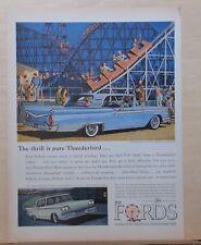 "1959 Ford Thunderbird Skiers In Snow Original Print Ad 8.5 x 11/"""