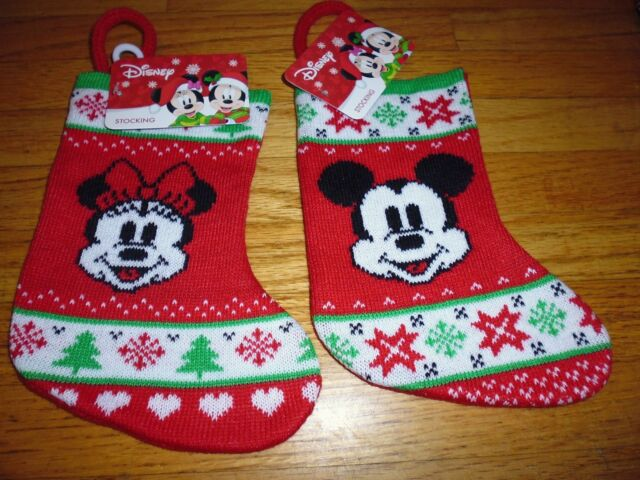 disney christmas mini stocking minnie or mickey mouse 8 12 long