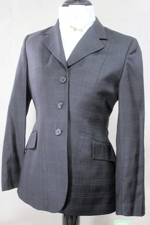 Ariat Darkest grigioverde Plaid mostrare Coat, Diuominiione 34ins Chest, Ref  35823