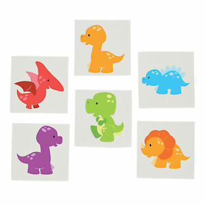 DINOSAUR-PARTY-Little-Dino-Temporary-Tattoos-Favour-Pack-of-36-Tattoo-Free-Post
