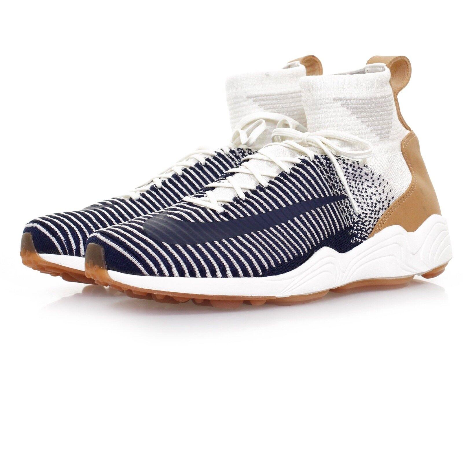 Nike Zoom Mercurial XI FK Flyknit Sail White Navy bluee  844626-101 Mens 9