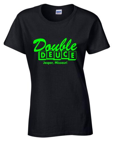 Double Deuce femme T SHIRT Roadhouse Années 80 Film Culte Patrick Swayze Ghost