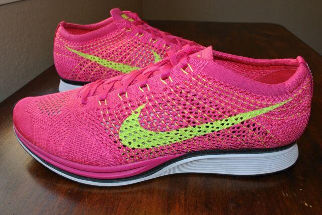 ba752d287322 Nike Flyknit Racer Unisex Running Mens 13 Women s 14.5 Pink 526628 ...