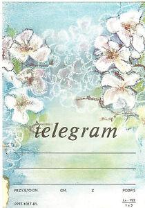 TELEGRAMME-POLOGNE-FLEURS-14-x-20-1cm