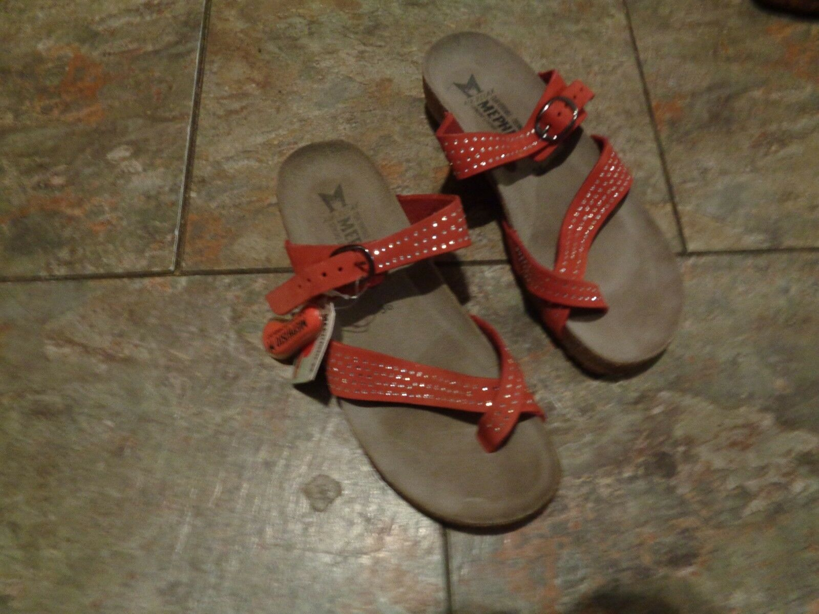 Mephisto rosso beaded strappy strappy strappy wedge heel sandals scarpe Dimensione 36 d5bb71