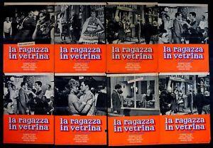 H53 Lot Fotobusta The Ragazza IN Showcase Linen Ventura Magali Noel Marina Vlady