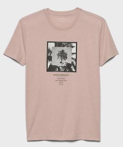 Banana-Republic-Homme-a-Manches-Courtes-Graphique-T-shirts-1978-Logo-Gris-M-L-XL-Neuf