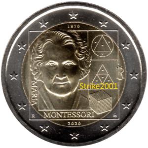 NEW-2-EURO-COMMEMORATIVO-ITALIA-2020-FDC-Maria-MONTESSORI-disponibile
