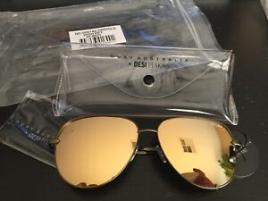 77b8845c1eb8b Quay Sunglasses Desi Perkins - High Key - Green Gold - BNIB 100 ...