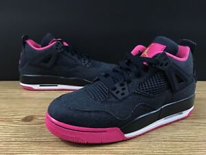 dc469f51a25d Air Jordan 4 Retro GG Obsidian Pink 8.5 Youth 10 Women Nike Shoe ...
