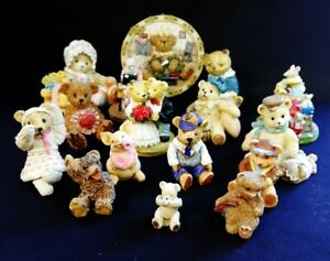 17 x Small VTG Ceramic / Resin Bear And Animal Figures   FREE Delivery UK*