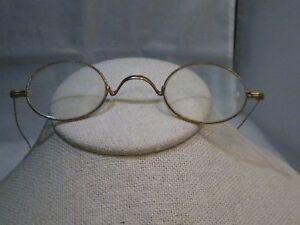 Vintage-Wire-Rim-Glasses-Oval-G-F-Ben-Franklin-style