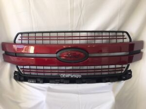 2018-FORD-F-150-Ruby-Red-Metallic-Genuine-Ford-Grille-With-Custom-Emblems