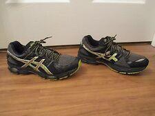 Used Worn Size 9.5 Asics Gel Nimbus 14 Shoes Black & Multi Color
