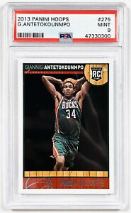 2013-14 Giannis Antetokounmpo Panini Hoops RC Rookie Card NBA MINT PSA 9
