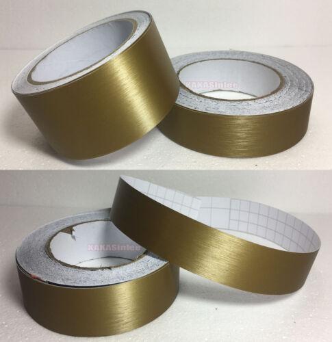Decor Car House Metallic Metal Matte Brushed ALUMINUM Vinyl Wrap Sticker Tape AB