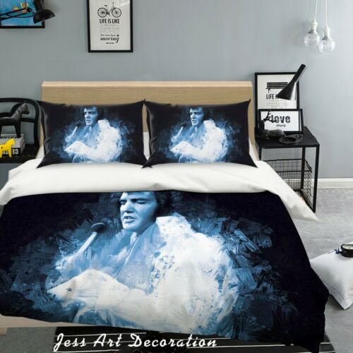 3D Elvis Presley Rock Star Quilt Cover Set Pillowcases Duvet Cover 3pcs Bedding