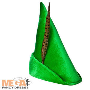 Deluxe Storybook Hat Boys Fancy Dress Fairytale Robin Hood Adults Kids Accessory
