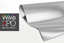 VViViD White Matte car vinyl wrap 5ft x5ft sticker 3mil paint-protect decal roll