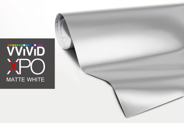 Vvivid Xpo matte white car wrap vinyl sticker