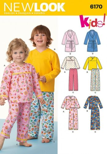 New Look Childrens Easy Sewing Pattern 6170 Pyjamas /& Dressing Gown NewL...