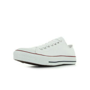Chaussures-Baskets-Converse-homme-All-star-ox-taille-Blanc-Blanche-Textile