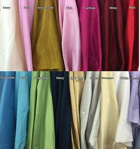 Poly-Silk-Dupioni-Fabric-100-Polyester-57-034-Wide-Tablecloth-Curtain