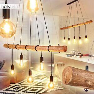 Holz Ess Wohn Schlaf Zimmer Beleuchtung Hänge Lampen Pendel Leuchten weiß//braun