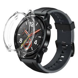 Proteccion-Ultra-delgada-TPU-Marco-De-Silicona-Estuche-Rigido-Cubierta-Para-Huawei-Watch-GT