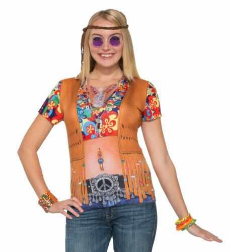 Forum Women/'s Instant Hippie Lady Sublimation Printed T-shirt Size Large 12-14