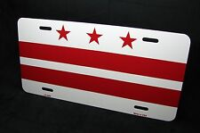 WASHINGTON DC FLAG METAL NOVELTY LICENSE PLATE TAG FOR CARS DISTRICT OF COLUMBIA