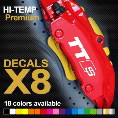 TTS HI-TEMP PREMIUM BRAKE CALIPER DECALS STICKERS CAST VINYL Audi TT Sline
