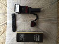 Achiever  630AF Flash and 600AF-H Handle Grip for  Pentax