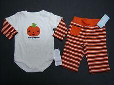 NWT Gymboree Halloween 3-6 Months Little Pumpkin Bodysuit & Stripe Pants