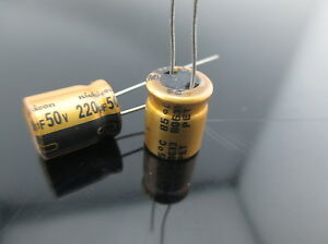 3PC-Original-Nichicon-FW-220uf-50V-Audio-Capacitor-for-audio-cap-hifi-diy-B57