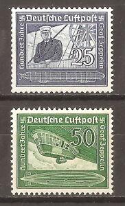 DR-Nazi-3rd-Reich-Rare-WW2-WWII-Stamp-Hitler-Air-Mail-Graff-Zeppelin-LZ-Swastika