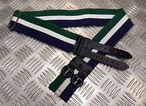 Genuine Military Issue Tri Colour Striped Stable Belt Fully Adjustable All Sizes